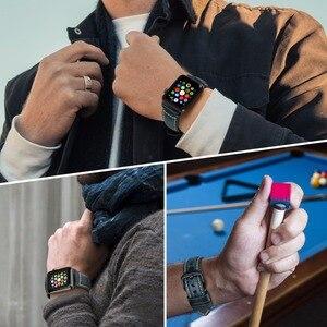 Image 5 - MAIKES Per Apple Watch Band 42 millimetri 38 millimetri/44 millimetri 40 millimetri di Serie 4/3/2/1 iWatch Blu In Pelle di Cera Olio Cinturino Per Apple Cinturino di Vigilanza