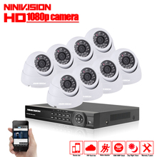 8CH CCTV Camera System AHD CCTV DVR 8PCS 2MP IR indoor Security Camera 1080P 3000TVL Camera Bullet Dome Surveillance Kits