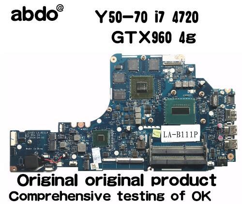 Lenovo Y50-70 Laptop Motherboard i7-4720HQ GTX 960M 4GB GPU ZIVY2 LA-B111P