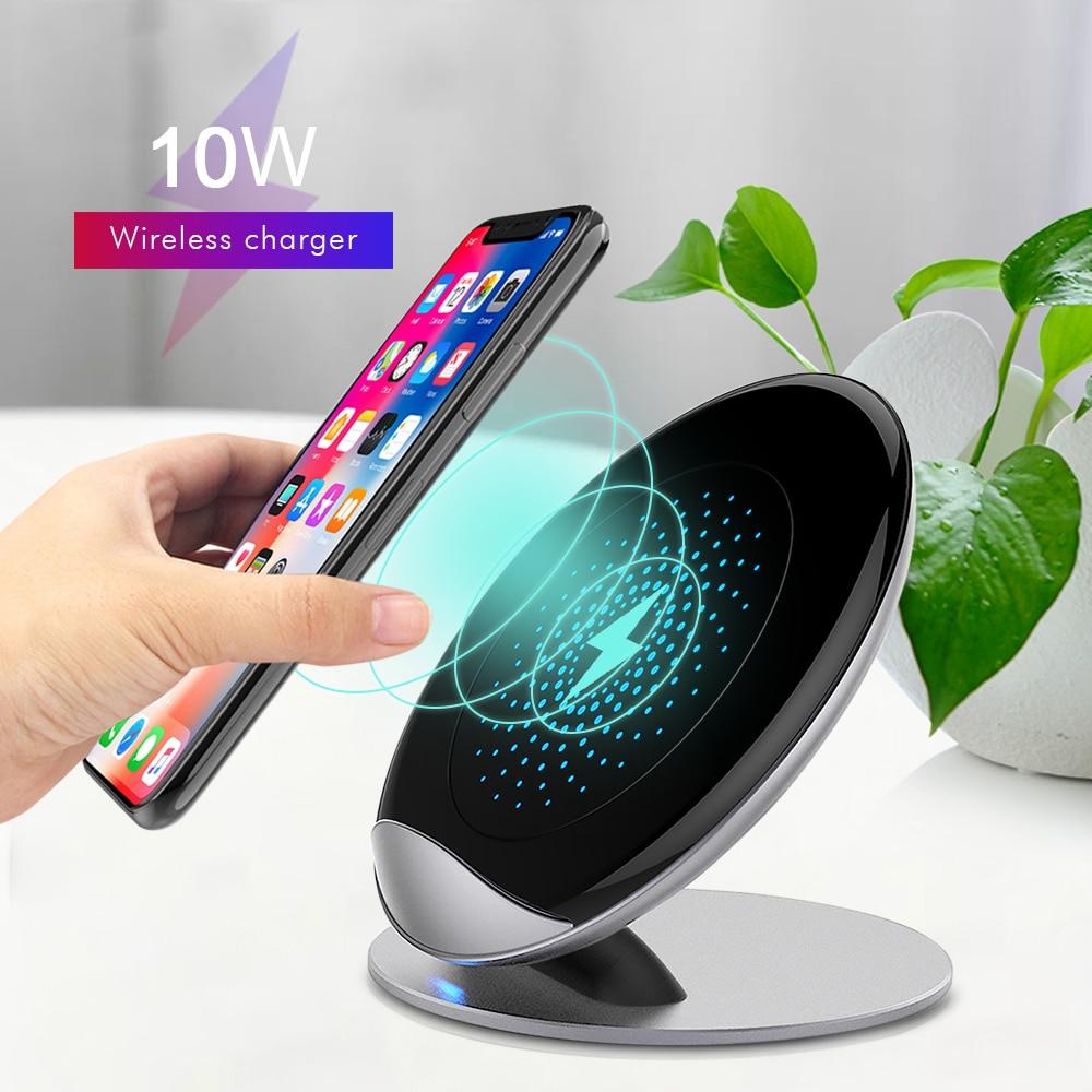 Chargeur sans fil rapide 10 W pour Samsung Galaxy S9/S9 + S8 S7 Note 9 S7 Edge USB Qi support de charge pour iPhone XS Max XR X 8 Plus