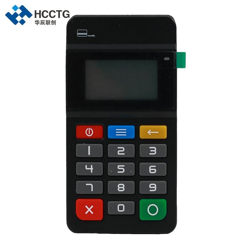 MPOS terminal de paiement Mobile Magnétique Lecteur de Carte NFC & IC lecteur de carte à puce avec clavier-HTY711