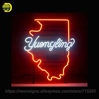 NEON SIGN For YUENG LING LAGER Glass Tube Coors Light Handcrafted With Metal Frame Artwork Great