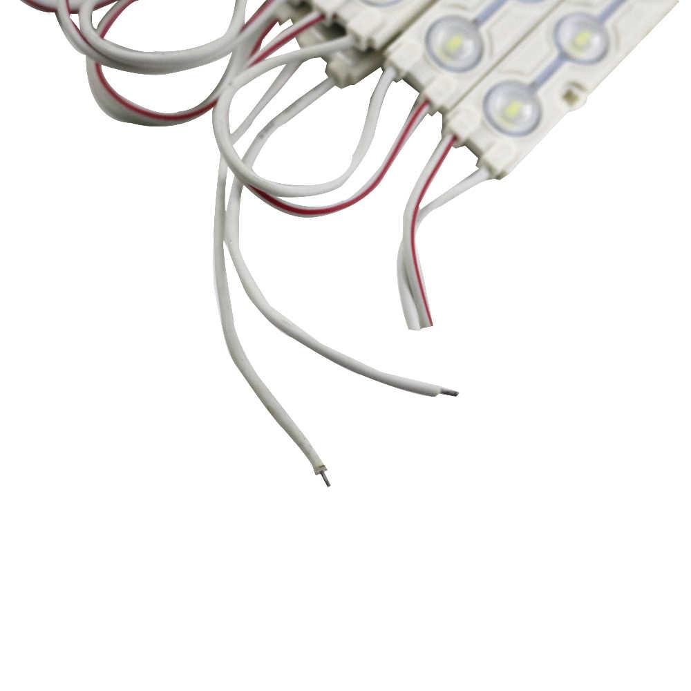 20 sztuk/partia moduły led DC12V SMD 5730 3LEDs IP65 wodoodporna lampa lampa biała jakość taśmy reklamowe światła znak led, sklep banner