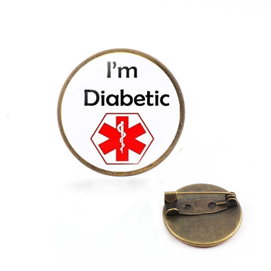 Diabetes Medical Alert Bros dan Pin Diabetes Medical Alert ID Pin Medical Alert Pin untuk Penderita Diabetes Diabetes Perhiasan
