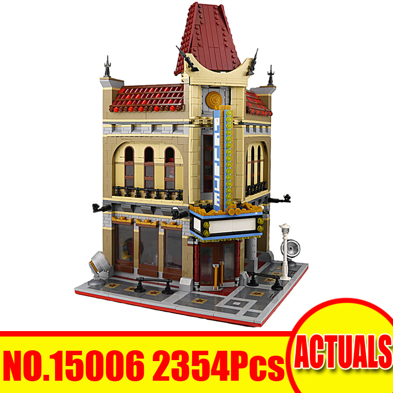 15006 2354Pcs Lepin City Street Figures Palace Cinema Model Building Kit Blocks Brick Set Toy For Children Compatible With 10232 a toy a dream lepin 15008 2462pcs city street creator green grocer model building kits blocks bricks compatible 10185