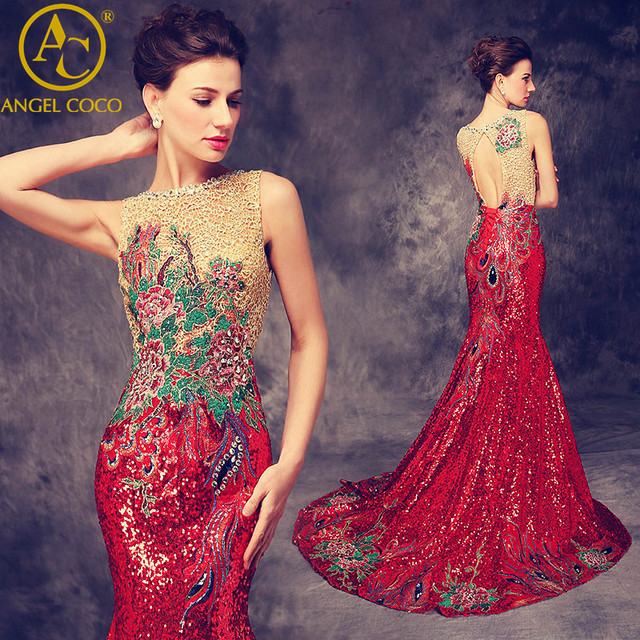 Luxury Mermaid Evening Dress 2017 Sequins/Rhinestones/Embroidery ...