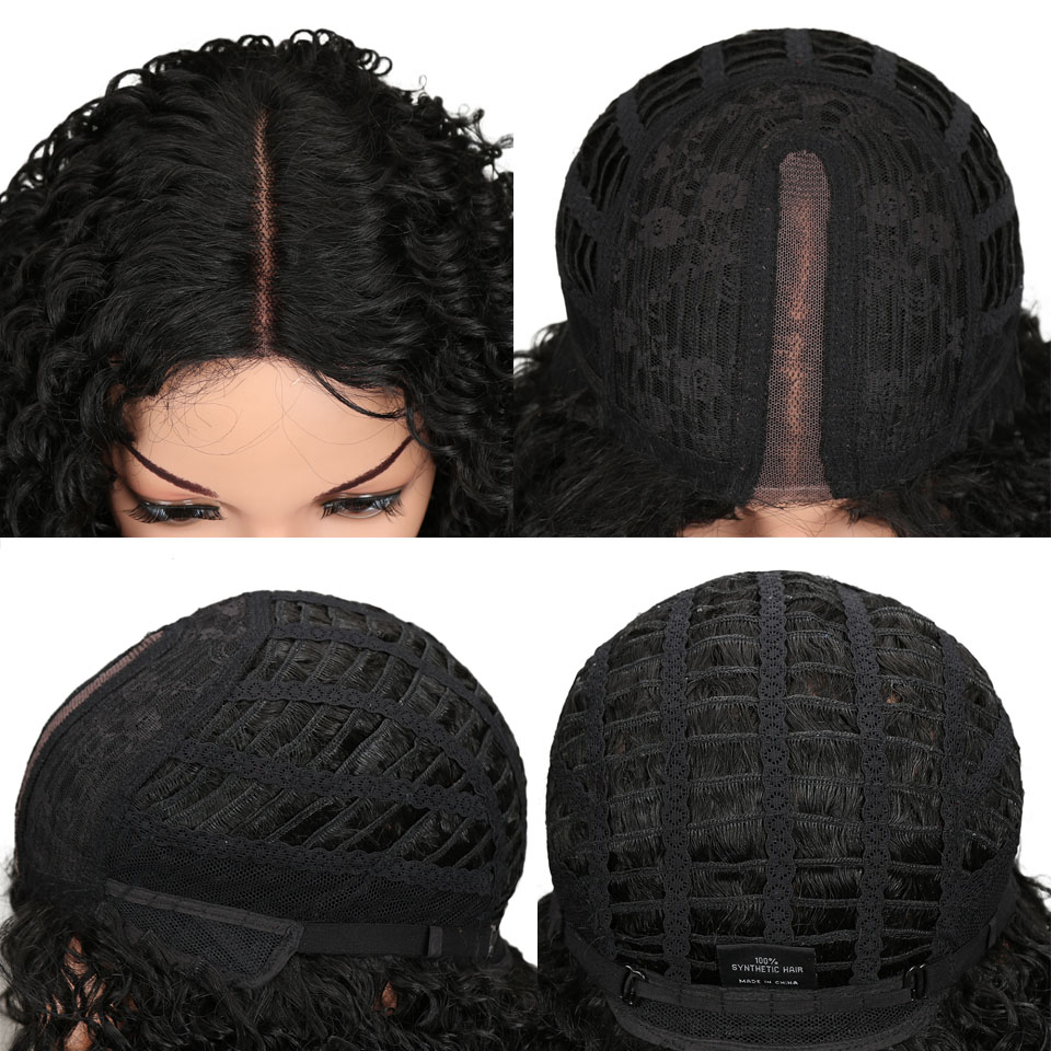 Miracle Hair Kinky Curly Synthetic Lace Front Wigs For Black Women Afro Kinky Curly Wig 26