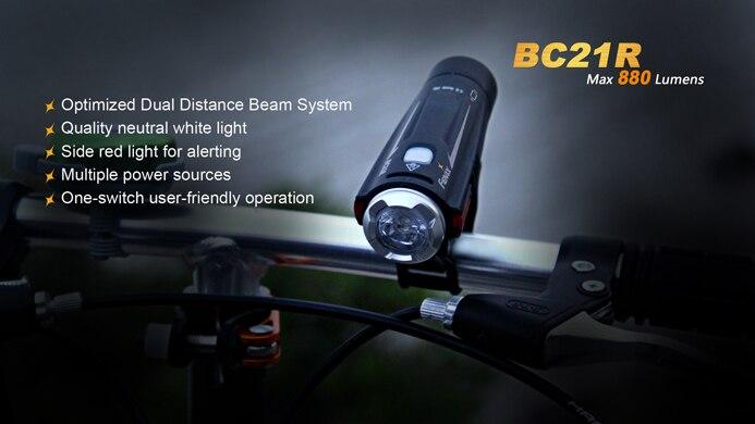 Image 3 - Fenix BC21R Cree XM L2 (T6) bike light 880 lumens Build in ARB L2 2300 battery Micro USB-in LED Flashlights from Lights & Lighting