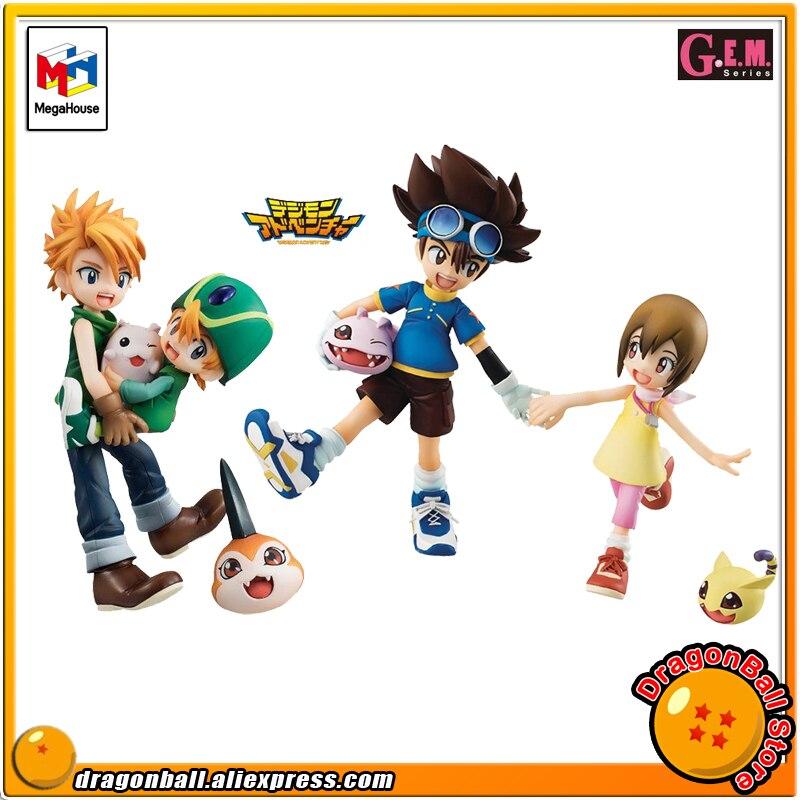 Японии аниме Digimon Приключения оригинальные MegaHouse Gem. Эксклюзивный Полный Рисунок-брат и сестра