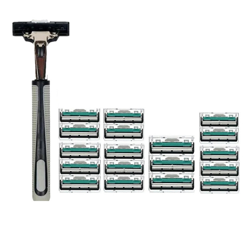 Razor Set Double Layers Men Face Shaving Razors Blades Male Manual Razor Blades For Standard Beard Shaver Trimmer Blades