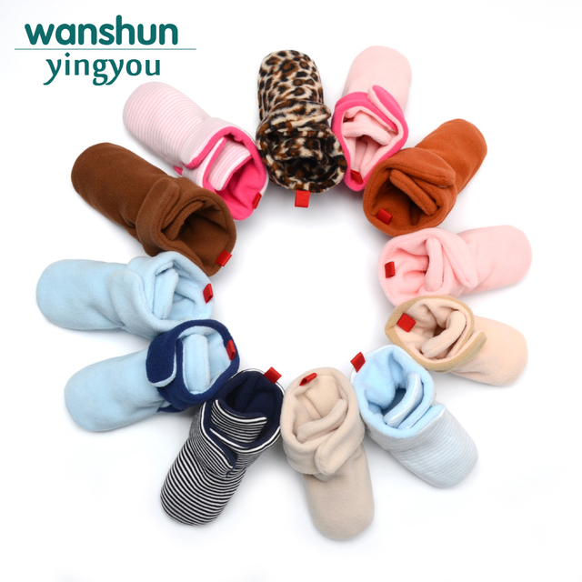 4c3e7fa6bdf58 US $3.28 20% OFF|Infant Baby Shoes Boy Girl New Born Booties All Seasons  Homes Socks Floor First Walkers 12 Color Available-in First Walkers from ...