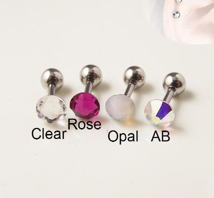 Фото 1 шт 316l хирургическая штанга нержавеющая сталь цвет cz кристалл цена