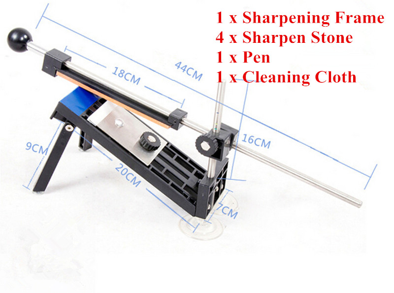 Brand New Knife sharpener Fixed angle Knife Sharpener Professional Kitchen Knife Sharpener Kits System 4 Stones