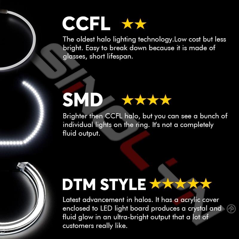 Led エンジェル · アイ 3D DTM LCI M4 スタイル Bmw E90 E92 F30 F31 E60 E82 M5 ターン信号白黄色スイッチバックアクセサリー  グループ上の 自動車 &バイク からの カーライトアクセサリー の中 2