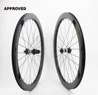 Farsports FSC50 CM 25 DT350 Tubeless Disc braking 50mm cycling carbon wheel,6 bolts Thru axle carbon cyclocross clincher wheel