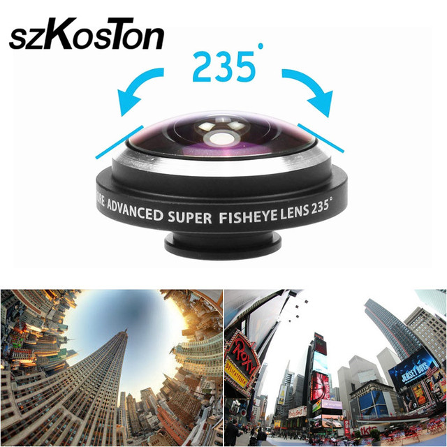 3d62a4065dd295 Universal 235 Degree Super Fish Eye Mobile Phone Camera Lenses For iPhone  Lens Super Wide Angle HD Metal Phone Clip-on Fisheye