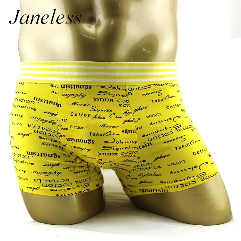 janeless 2016 mens underwear boxers bermuda Male panties short homme calvin brand clothing sexy bamboo fiber Underpants
