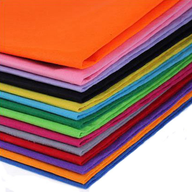 Shuangshu New Unwoven High Quality Blended Soft Polyester Fabric 20 Color Batch 91CMX91CM felt Polyester Non Woven Fabric 1mm in Fabric from Home Garden