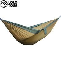 Portable 2 Person Parachute Hammock Tent Double Garden Hamaca Rede De Dormir Camping Hamac 300 175cm