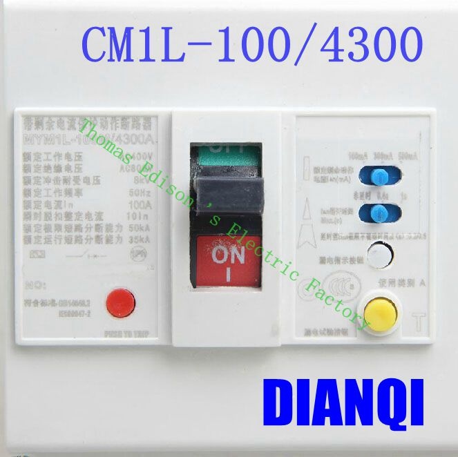 цена на CM1L-100/4300 MCCB 20A 32A 40A 63A 80A 100A molded case circuit breaker CM1L-100 Moulded Case Circuit Breaker