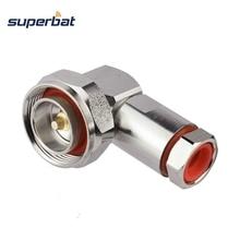"""Superbat 7/16 DIN штекер, прямоугольный зажим для гибкого кабеля 1/2 """"RF разъем для крепления кабеля"""