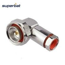 """Superbat 7/16 DIN prise mâle Center pince à Angle droit pour 1/2 """"câble Flexible RF connecteur câble montage"""