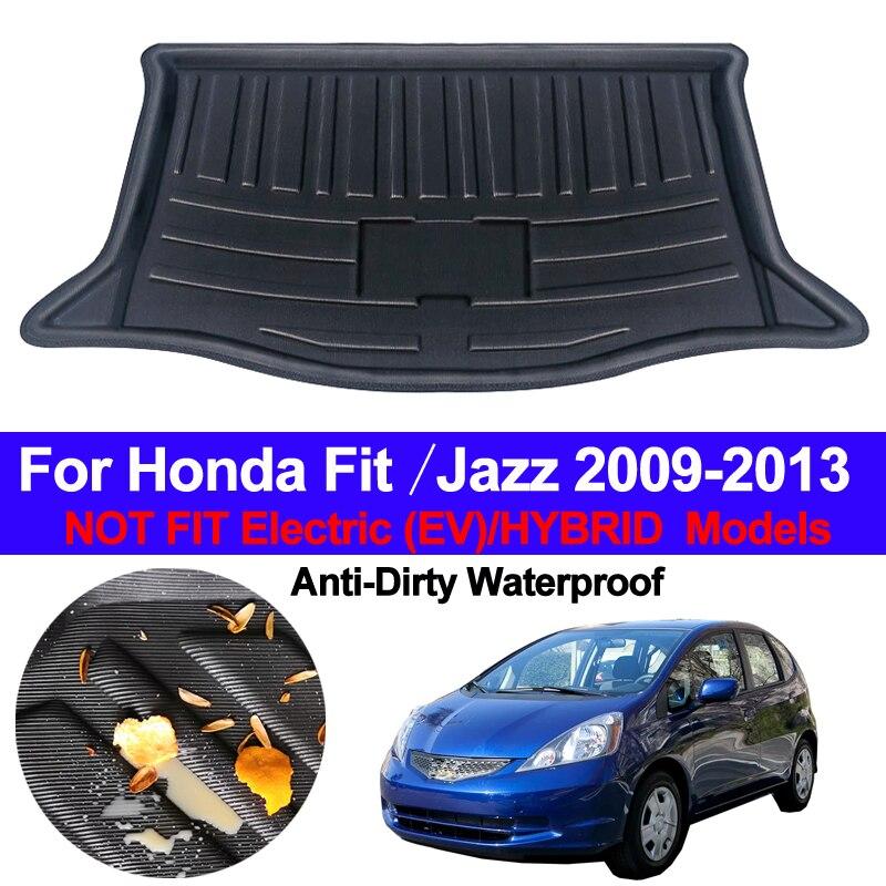 Car Rear Boot Cargo Liner Trunk Floor Mat Carpets Tray Mats Luggage Pad Carpet For Honda FIT / JAZZ 2009 2010 2011 2012 2013 MK2