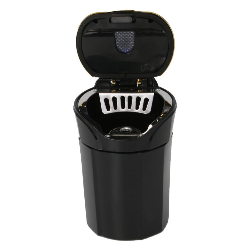 3 in 1 Rechargeable Car LED Ashtray Car Trash Can Removable Cigarette Lighter LED Light for Car Cup Holder(China)