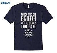 GILDAN 20 양면 주사위 T 셔츠 때 DM 미소 그 이미 너무