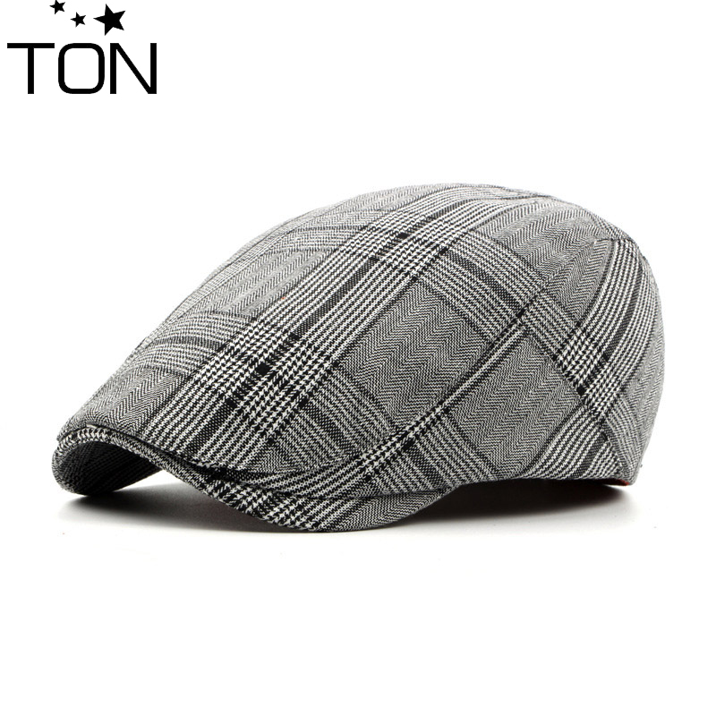 Fashion Wool Men s Beret Cap Felt Newsboy Plaid Hat Men Wool Hat Driving  flat hat Men Winter Hats Gorras Casquette Berets-in Berets from Apparel  Accessories ... 53f25e8276