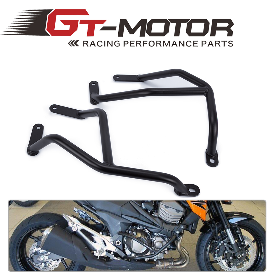 GT Motor -2013 2014 2015 2016 for KAWASAKI Z800 Z 800 Black Engine Guard Crash Bar Protector high quality for bmw r1200gs 2013 2014 2015 motorcycle upper engine guard highway crash bar protector silver