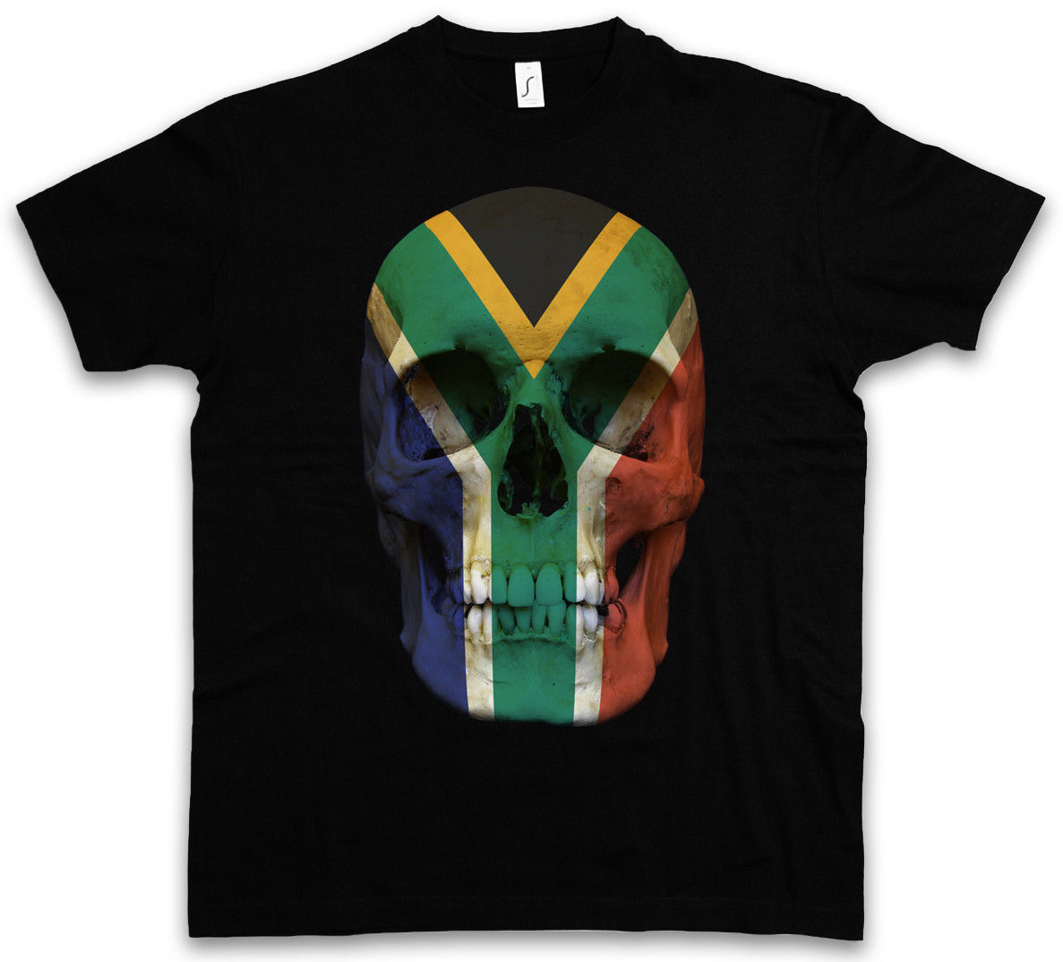Classic South Africa Skull Flag T Shirt Biker Mc Banner Shirt Sizes S 5Xl
