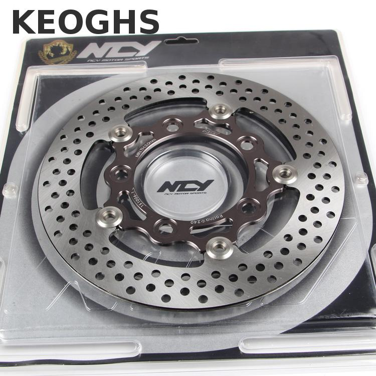 Keoghs Motorcycle Floating Brake Disc 240mm Diameter 5 Holes For Yamaha Scooter keoghs ncy motorcycle brake disk disc floating 260mm 70mm 3 holes for yamaha bws smax scooter modify