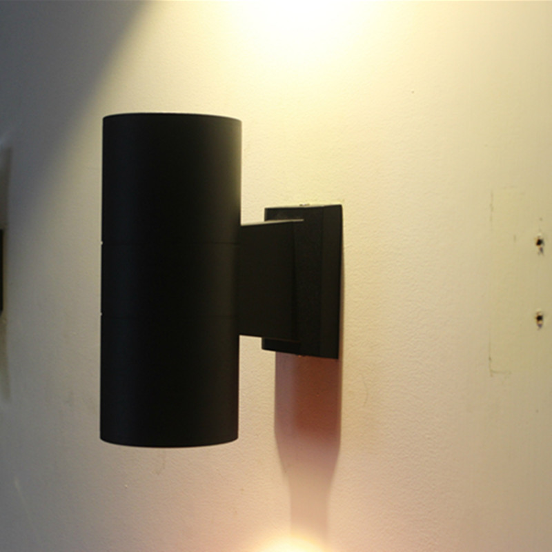 Black 6W LED Wall Light Waterproof  Up Down Dual-Head LED Wall Mount Light suit for home porch 2 color