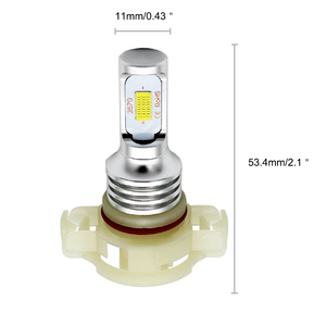 Image 4 - 1Pcs High Power White Yellow LED CSP 72W 5202 H16EU PSX24W LED Bulbs Fog Lights Driving Running Lights For Car 6000K 3000K