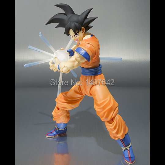 New Goku 16cm Son Goku Dragon Ball Z Super Saiyan Comics Collection PVC  Action  Figures  Toy for Kids Birthday Gift  new goku 14cm vegeta goku trunks dragon ball z resurrection f super saiyan god comics pvc action figures toy for kids