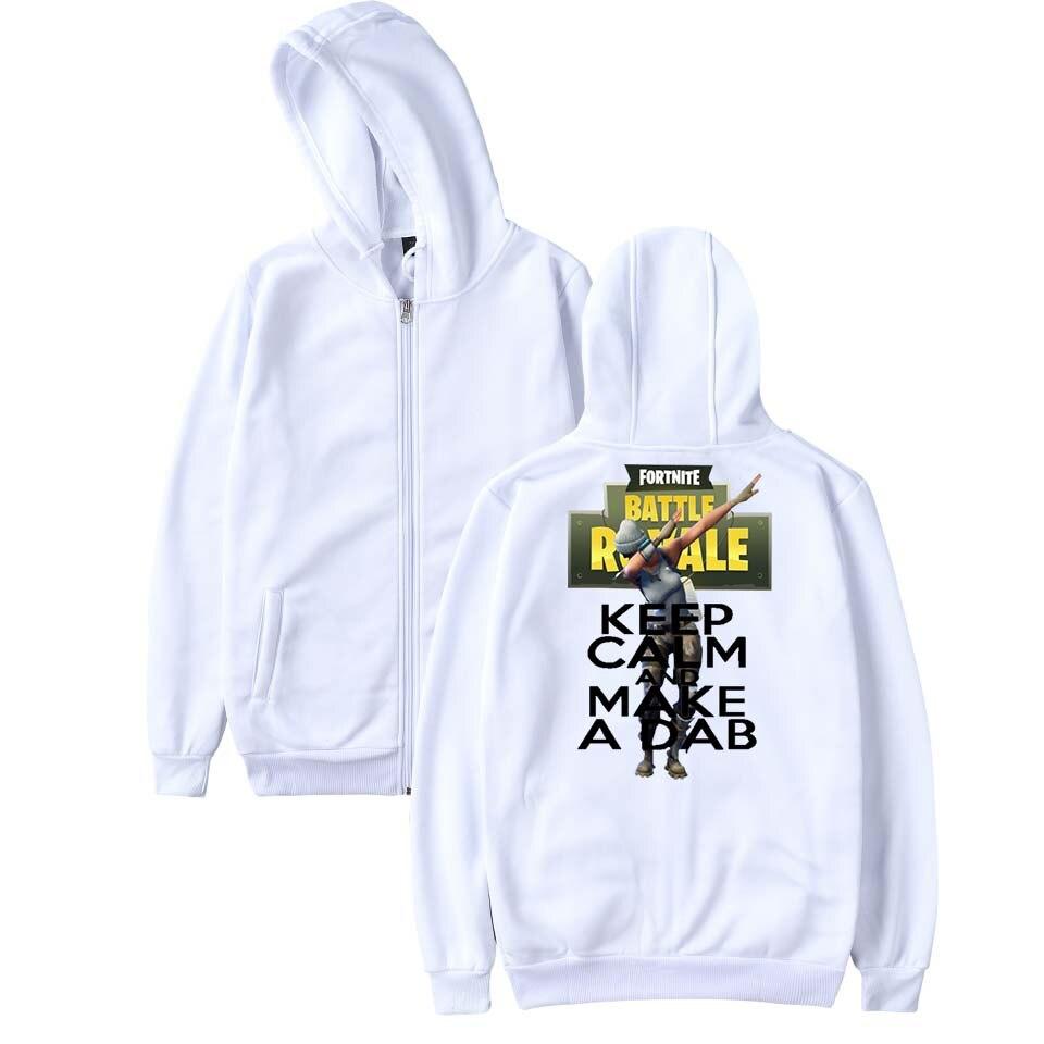 SMZY Fortnite Zipper Hoodies Men Sweatshirts Casual Fashion TGA Popular FPS Game Hoodies Men Zipper Funny Cartoon Logo Clohtes