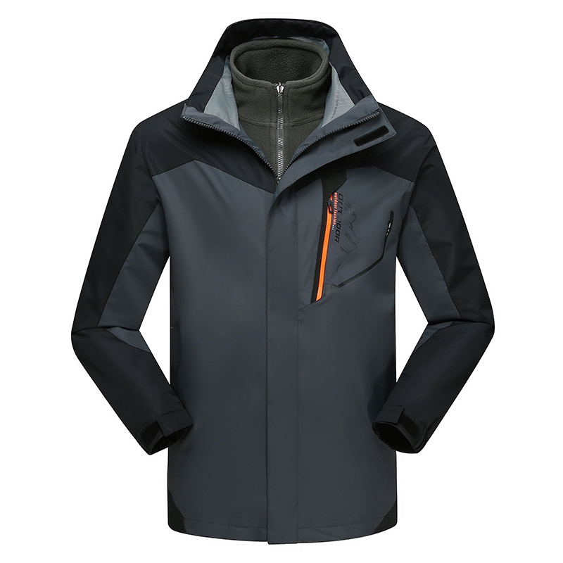 New Mens 3in1 Outdoor Fleece Lining Hooded Waterproof winter Jacket men Windbreaker Coat Ski Hiking Camping Jaqueta Masculina new outdoor sport windbreaker waterproof jacket men hiking camping skiing climbing winter coat fleece lining jaqueta masculino