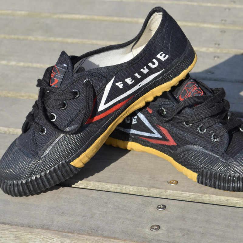 27d9a086c70e Черный Feiyue обувь белый боевых искусств Тай Чи тхэквондо обувь ушу обувь  для карате Кунг Фу