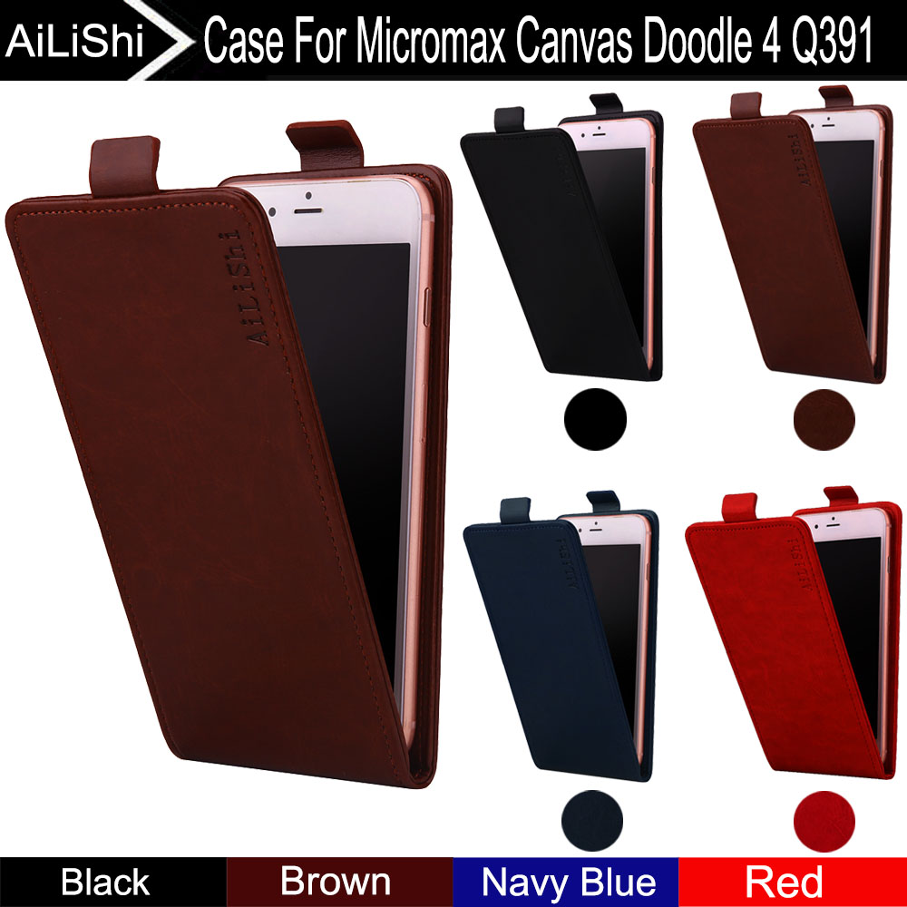 AiLiShi For Micromax Canvas Doodle 4 Q391 Case Up And Down Vertical Phone Flip New Leather Case Phone Accessories Tracking