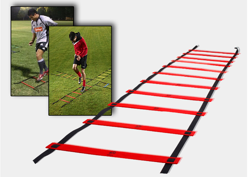 10M football Training Rope Ladder Soccer Agility Ladder Plastic Speed Ladder Outdoor Fitness Equipment new durable 9 rung 16 5 feet 5m agility ladder for soccer and football speed training with carry bag fitness equipment ea14