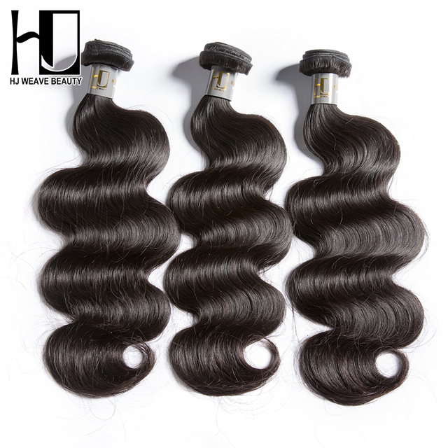 Indian Virgin Hair Body Wave 3 PCS/Lot 5 A Human Hair Bundles Free Shipping Brand H J Weave Beauty