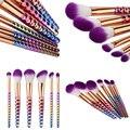 New 6pcs Professional Makeup Brushes Set Eyeshadow Eyeliner Lip Brush Gradient Purple Design Makeup Brushes Set Tools