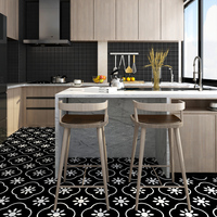Bathroom Toilet Room Floor Sticker Thick PVC Waterproof Non slip Self Adhesive Wallpaper Kitchen Living Room Contact Paper