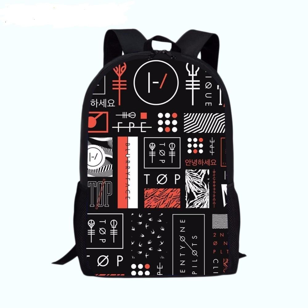 HOT-Sale Twenty One Pilots Backpack Teenage Backpacks Men Women Travel Shoulder Bag Student School Bags Children Laptop Bag