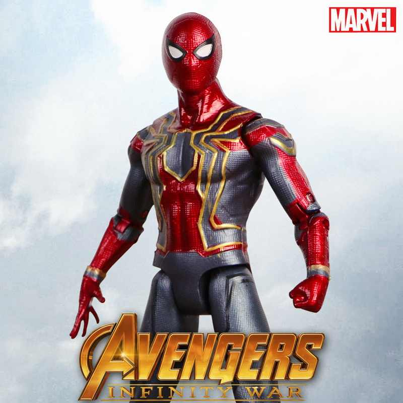 2018 New Marvel Avengers Brinquedos Infinito War3 Spiderman PVC Action Figure Collectible Modelo Toy Dolls Figuras de Super-heróis homem-Aranha