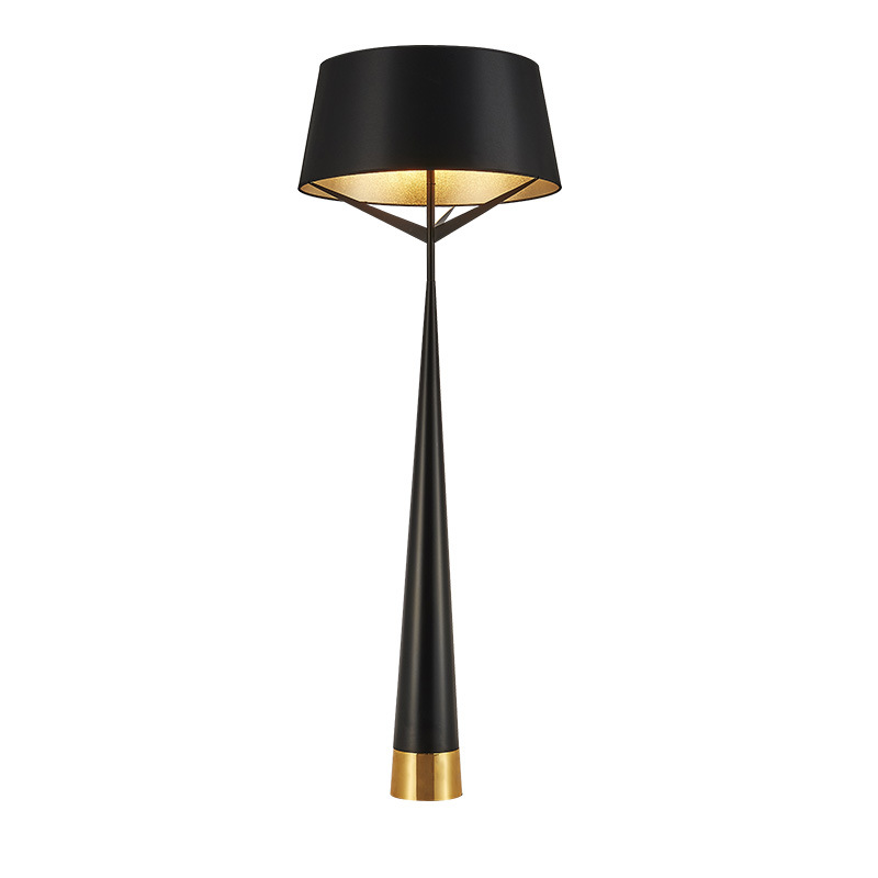 Post modern floor lamp black floor light table lamp metal - Black table lamps for living room ...