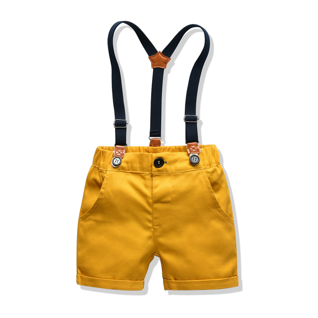 Baby Boy's Summer Clothing Set with Suspenders 5