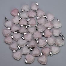 Mode Natuursteen Quartz Rose Cross Hart Waterdruppels Hangers & Kettingen Voor Maken Sieraden Charm Punt Onderdelen 50 Stks/partij