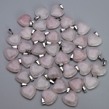 fashion natural stone Quartz Rose Cross heart water drops Pendants & necklaces for making Jewelry charm Point parts 50pcs/lot